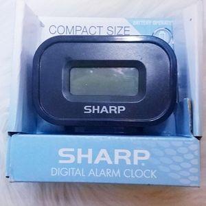 #1096 New Timer Sharper Image Alarm Clock Black